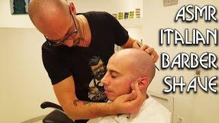 💈 Italian Barber - Face Razor Shave - ASMR no talking