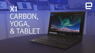 Thinkpad X1 Carbon, Yoga, and Tablet hands-on at CES 2018