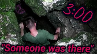 STUCK IN AN UNDER GROUND CAVE @3AM (SOMEBODY WAS THERE)