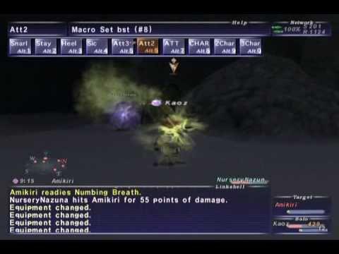 FFXI NM Saga #232: Amikiri vs BST85 Solo (Epic Battle)