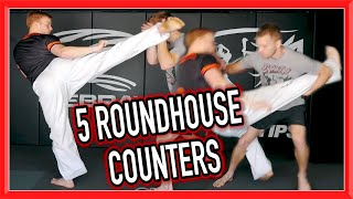 5 ROUNDHOUSE KICK COUNTERS for Self Defence, Street Fight, MMA, etc   FightTips