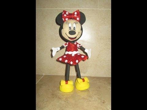 Hecho En Casa Como Hacer Fofucha Minnie Mouse Goma Eva Foami