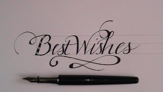 """how to write in cursive - fancy lettes for beginners """"best wishes"""""""