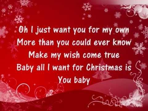 Mariah Carey - All I Want For Christmas Is You - Lyrics