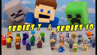 Minecraft Mini Figures Blind Box Series 7 & 10 Minecart Mattel Case Toys Unboxing