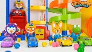 Pororo the Little Penguin Colorful Toy Cars Playset!