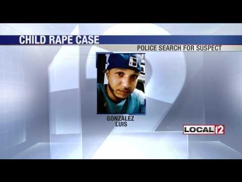 Police search for suspect in child rape case