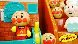アンパンマンおもちゃアニメ  わくわくおしゃべりパン工場deあそぼう! 歌 映画 テレビ Anpanman Toys