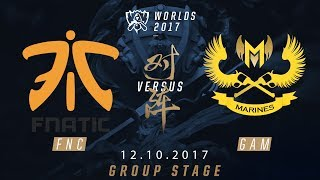 [12.10.2017] GAM vs FNC [Group Stage][Tie-break 2][CKTG2017][Bảng B]