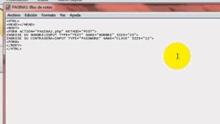 "FORM-Input Type=""text"",""Password"",""Submit"" y ""Reset"" en HTML."