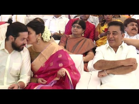 SHRUTHI HASSAN  KISSED HER BOYFRIEND INFRONT OF  KAMAL HASSAN?