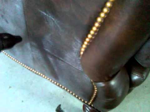Leather Furniture Repair--Spew removal