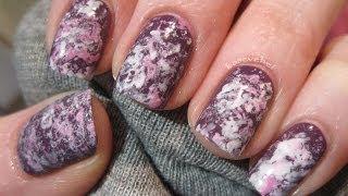 Saran wrap nail art - Marmurkowe paznokcie folią spożywczą - Basevehei