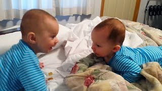 Cute TWIN BABIES Impersonate Each Other   Funny Copycat BABIES!