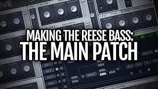 Making the reese bass part 1: the main patch + progress new track!