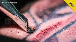 Mira en cámara lenta cómo se hace un tatuaje y por qué duele tanto