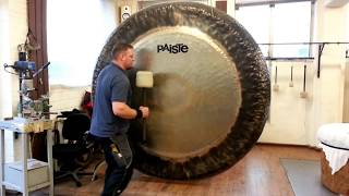 "Paiste - 80"" Symphonic Gong played by Paiste Gong Master Sven"