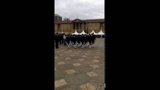 Foot drill by State House Girls cadets drill