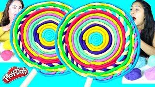 DIY Giant Play Doh Lollipop|B2cutecupcakes