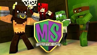 Minecraft Monster School - MEETING THE STUDENTS