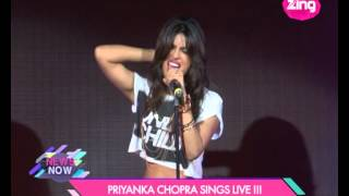 For the first time ever, Priyanka Chopra sings Live - Bollywood Life - episode