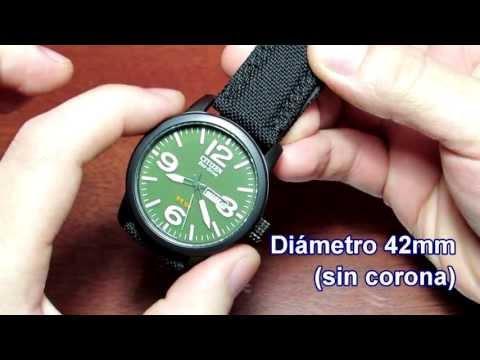 Citizen Eco-Drive BM8475-00X military watch Full HD