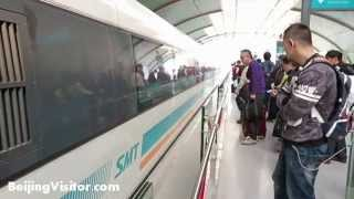 Shanghai Maglev Train Ride - Pudong Airport to Shanghai & Back