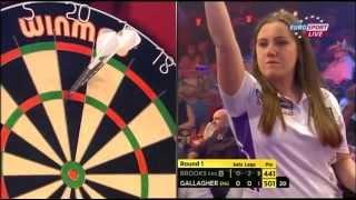 BDO World Darts Championship 2015 Round 1 Rachel Brooks v Casey Gallagher