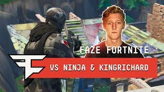 FaZe Tfue & FaZe cLoak vs Ninja & KingRichard -  Fortnite 2v2 Gameplay
