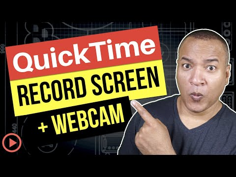 QuickTime Player Tutorial How to Record Computer Screen AND Webcam Mac