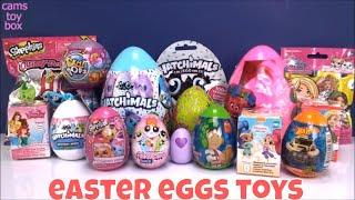 Easter Surprise Eggs Pikmi 2 Chocolate Kinder Shopkins Trolls El Chavo Opening Hatchimals Barbie