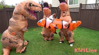 恐竜 兄弟 恐竜ごっこシリーズ まとめ ❤連続再生 ごっこ遊び こうくんねみちゃん Dinosaur brothers topic