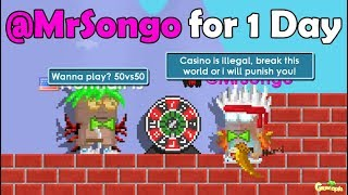 BEING MODERATOR(@MrSongo) FOR 1 DAY!! OMG!! | GrowTopia