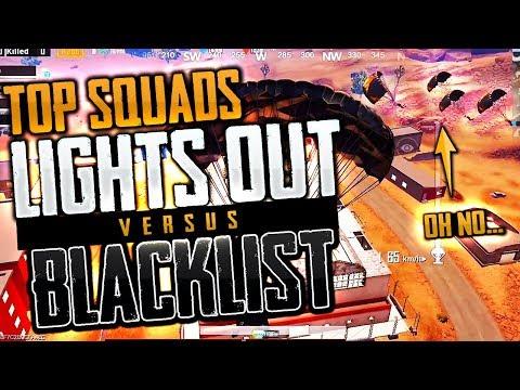 TOP PUBG MOBILE CREW SHOWDOWN Lights Out vs. Blacklist