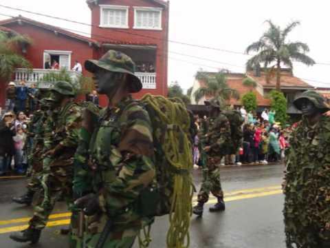 Una parte del Desfile del Ejercito Paraguayo