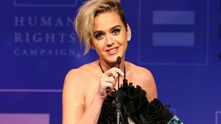 "Katy Perry Supports LGBT Community in Human Rights Campaign Speech: ""I Did MORE Than Kiss a Girl"""