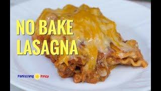 No Bake Lasagna Pinoy Style