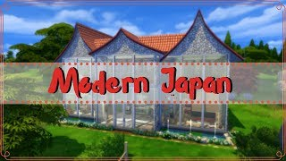 Modern japanese glass house | The Sims 4 stop-motion build