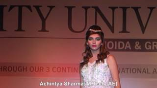 Inbush Era 2017, Fashion Walk/ Fashion Show, Amity University, Noida