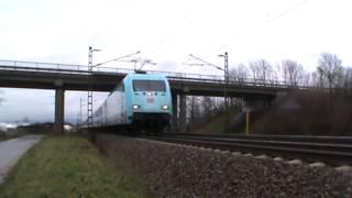 DB Fernverkehr 101 102-2 (VEDES Werbung) mit IC bei Ladenburg
