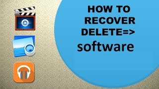 how to recover permanently deleted softwere recover 100% without internet Urdu + Hindi