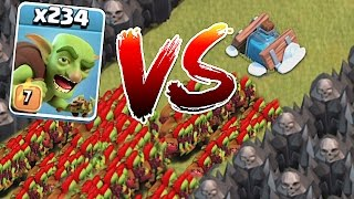 WHO WILL WIN!?!😀 234 GOBLINS vs. NEW FREEZE TRAP!!🔸Clash of clans