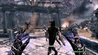 Skyrim High Level Mage Gameplay - Stormcloak Quests - Battle for Whiterun