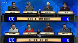 University Challenge S45E07 - Christ's College, Cambridge  vs Kellogg College, Oxford.