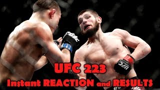 UFC 223: Reaction and Results