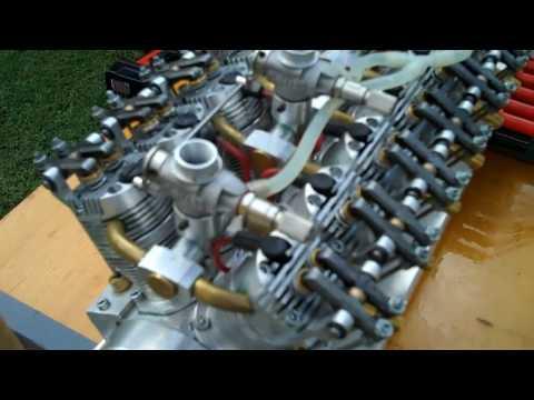 Model V-12 Engine Runs
