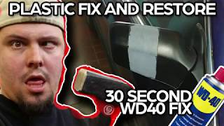 30 second Fix and restore faded plastic with WD-40 on your car