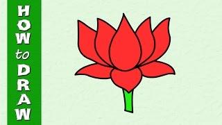 Kids Drawings Lotus
