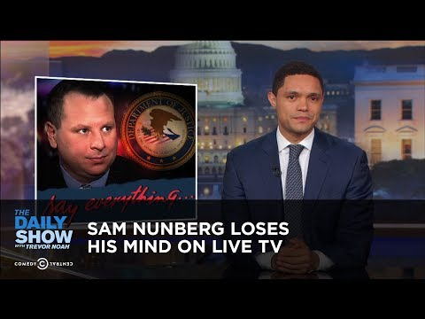 Sam Nunberg Loses His Mind on Live TV The Daily Show