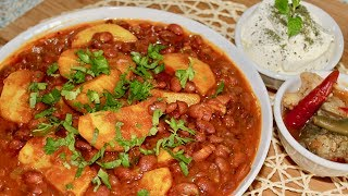 Afghan Ghormeh Lobia wa Kachalo - Kidney Beans Recipe - Kidney Beans With Potatoes